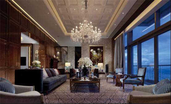 高档别墅客厅水晶灯具设计定制案例效果图实拍