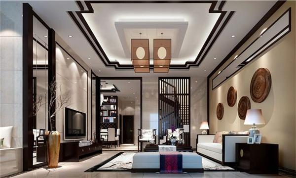 新中式别墅大厅吊灯设计定制案例