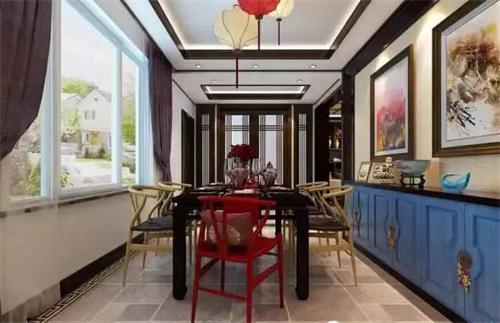 新中式吊灯点缀浪漫餐厅设计!孙氏照明新中式吊灯厂家