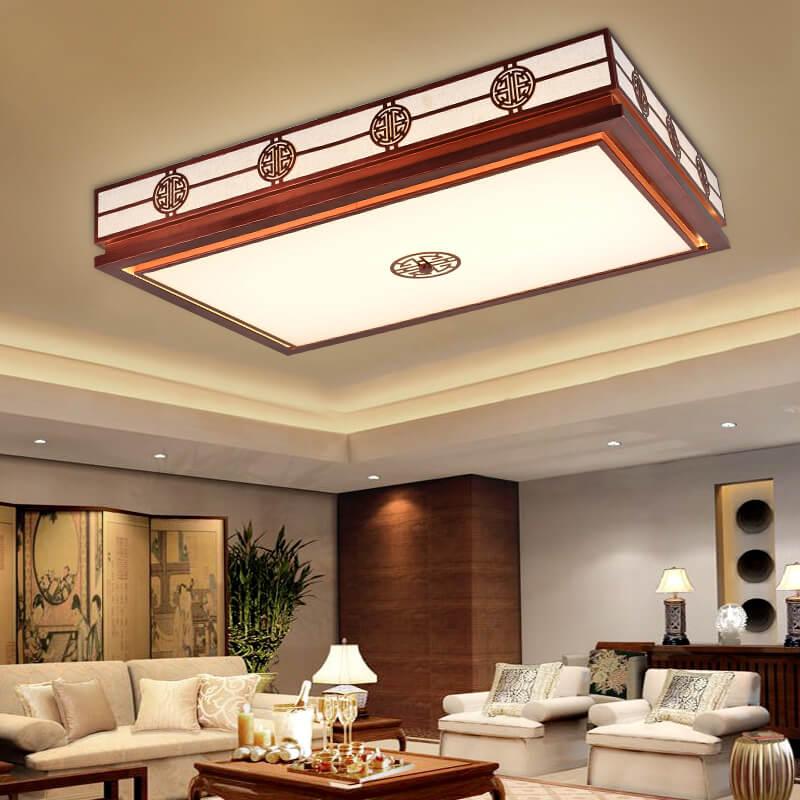 仿红木中式吸顶灯 2018 新款中式风格客厅吸顶灯