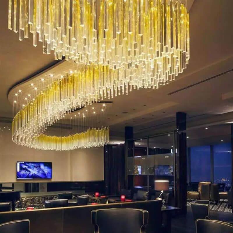 酒店水晶工程灯