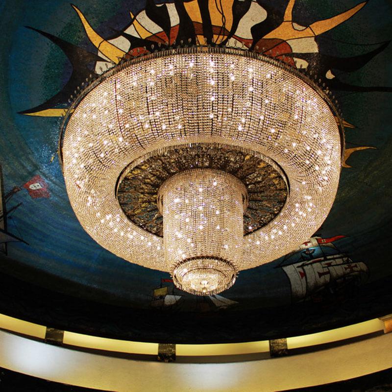 酒店大型水晶吊灯